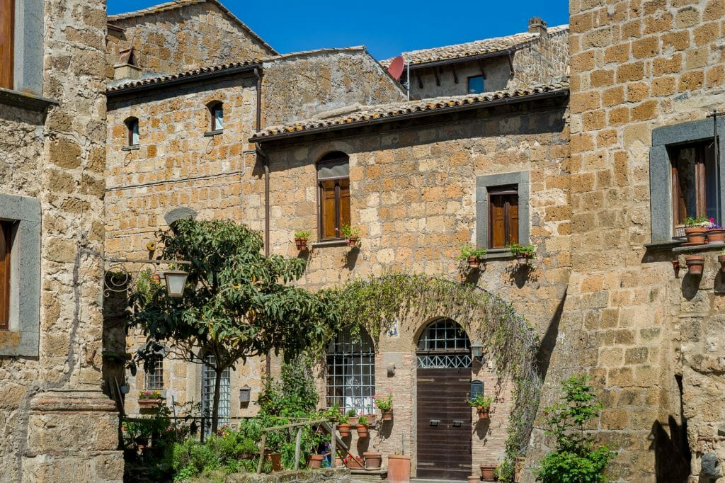 Old stone buildings in the old village Civita di Bagnoregio - Day Trips From Rome