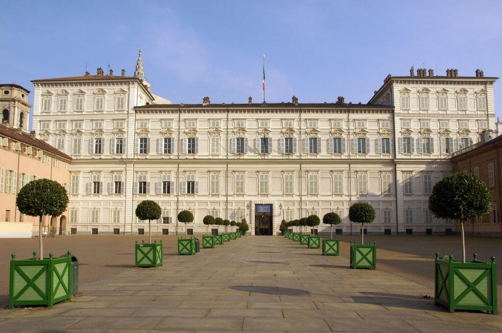 Palace Building in Turin, Italy - Palazzo Reale (Royal palace) in Turin, Italy
