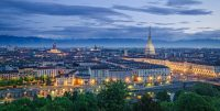 Turino City Scape - City lights Turin at Dusk - Things to do in Turin Italy