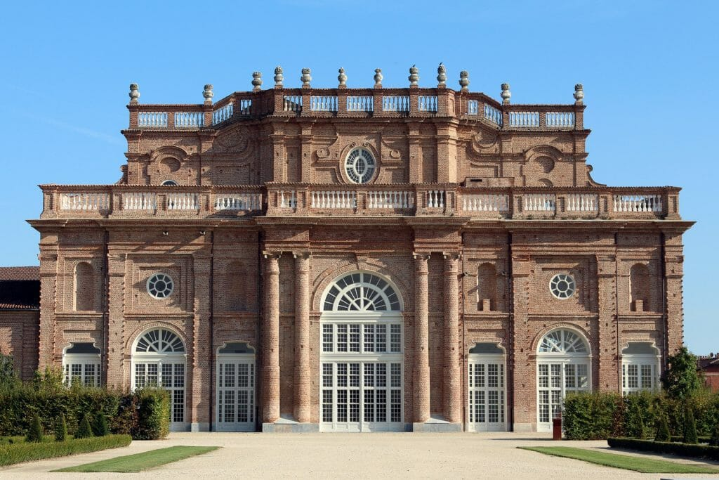 Red Sandstone Building of the Royal Palace in Turin