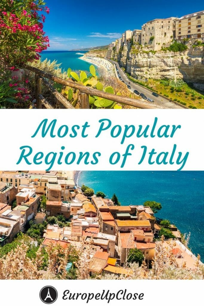 Most Popular Regions of Italy - Italy Bucket List - Italy Trip - Italy Itinerary - Travel To Italy #Italy #Italian #italytrip #italyitinerary #italybucketlist #italytraveltips #italytravel #italianregions Regions of Italy #europeupclose