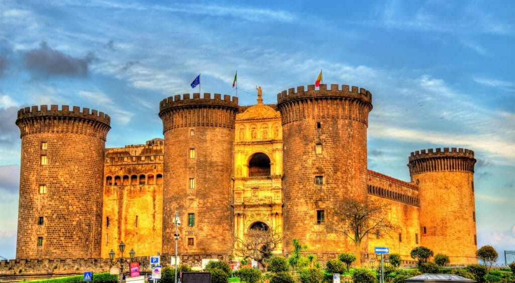 View of Castel Nuovo in Naples - Italy