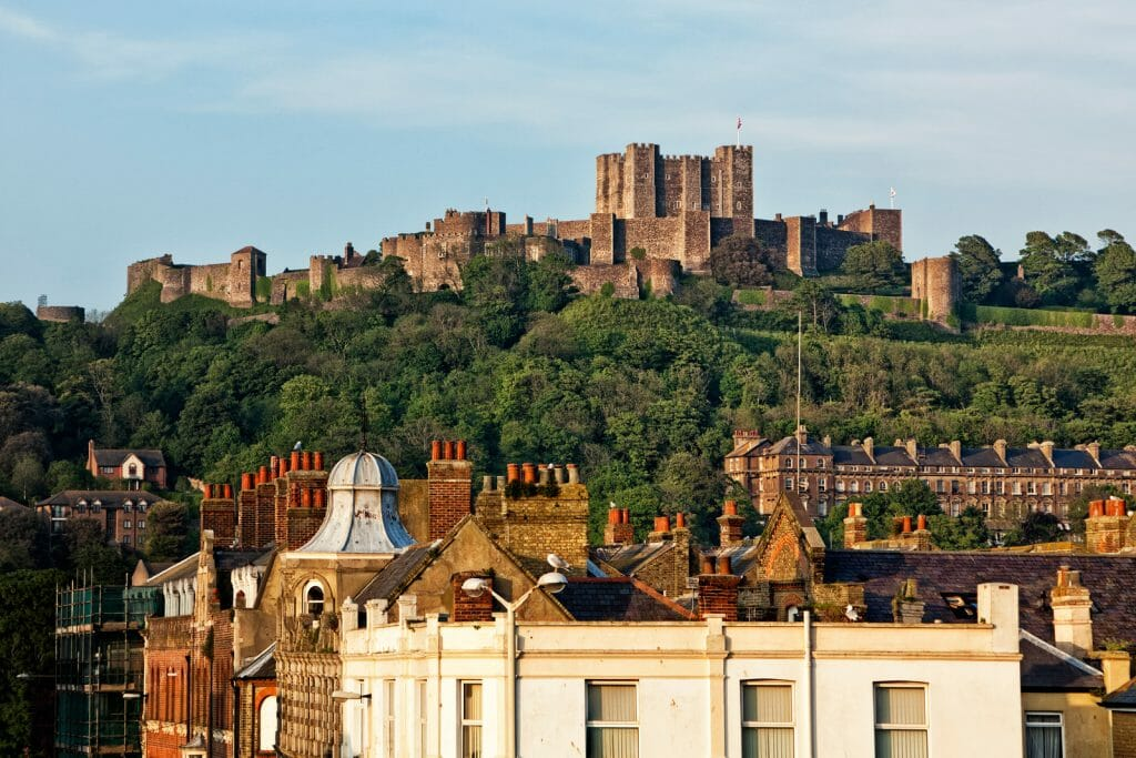 Dover Castle above the city