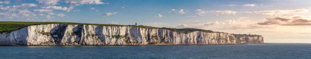 Panorama shot of White Cliffs of Dover