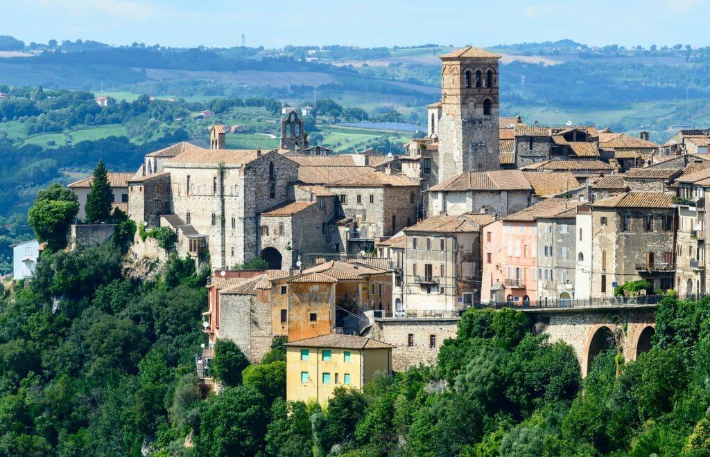 Panoramic view of Narni (Terni, Umbria, Italy), medieval city