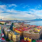 Panorama of Naples, view of the port in the Gulf of Naples and Mount Vesuvius. The province of Campania. Italy. - Things to do in Naples Italy