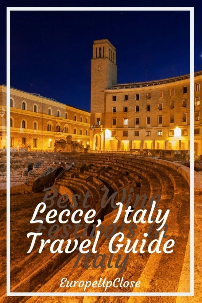 Southern Italy: Lecce Puglia Travel Guide - Italy Itinerary - Puglia Italy - Apulia Italia - South of Italy - Italy travel tips - Things to do in Italy - Southern Italy Itinerary - Where to go in Italy - Italy off the beaten path #Italy #Puglia #Lecce #Italytrip #TravelItaly #Italyltravel #Italyitinerary #Italytraveltips #europetravel #europetrip #discoveritaly #italian #europeupclose