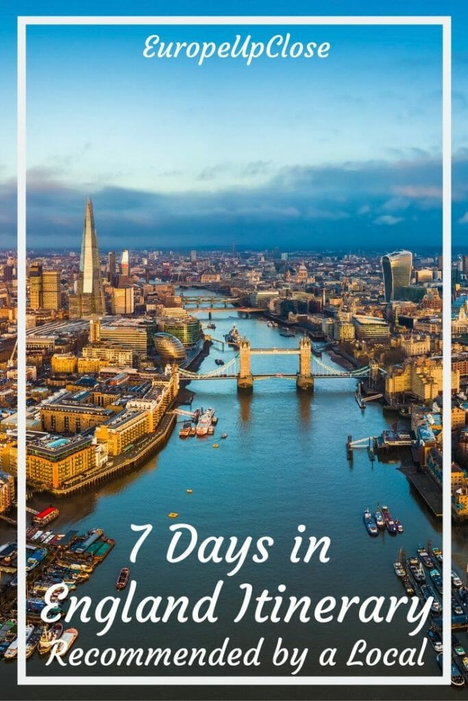 1 Week in England Itinerary - Are you planning a quick trip to England? Here is our 7 Day England Itinerary, written by a local, that will give you a taste of England. 7 Day England Itinerary - Recommended by a Local - England Things To Do - England Travel Tips - 1 Week England - England Countryside - England aesthetic countryside #England #Englanditinerary #London #SouthernEngland #Englandtrip England Road Trip - UK Road Trip