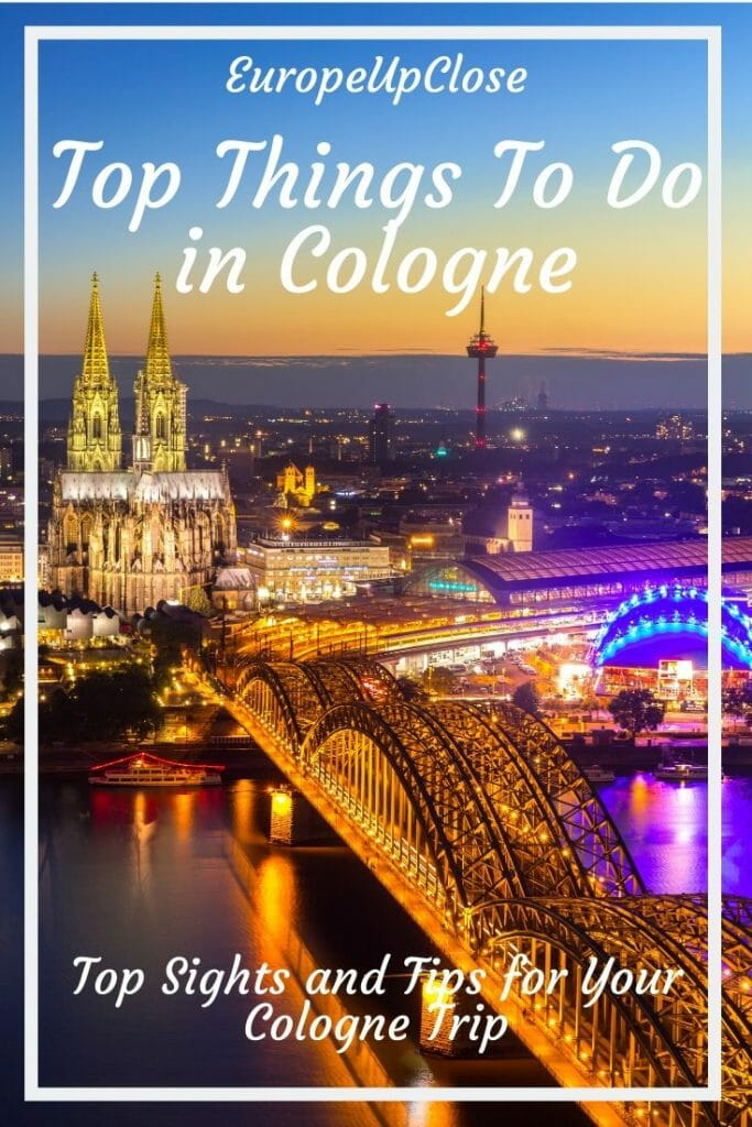 Everyone knows the Cologne Cathedral, but what other sights are there in Cologne? Here is a list of the best things to do in Cologne, Germany. Cologne Things To Do - Cologne Sights - Cologne Sightseeing - Visit Cologne - Cologne Germany - Cologne Itinerary - Things To in Cologne - Germany itinerary - Germany Trip  #Cologne #Köln #Germany #Germanytrip #Germanytravel #germanyItinerary #traveltips #Europetrip #europevacation #germanyvacation