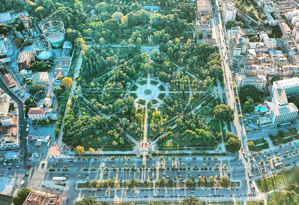 Gardens of Palermo from Bird's eye view