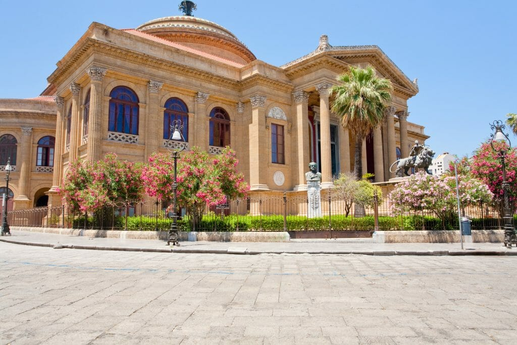 Teatro Massimo - famous opera house on the Piazza Verdi in Palermo, Sicily