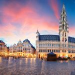 Brussels - panorama of Grand place at sunrise, Belgium - Things to do in Brussels