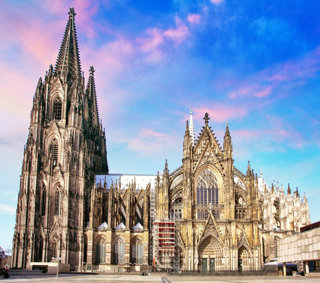 Cologne Cathedral from the side at sunrise