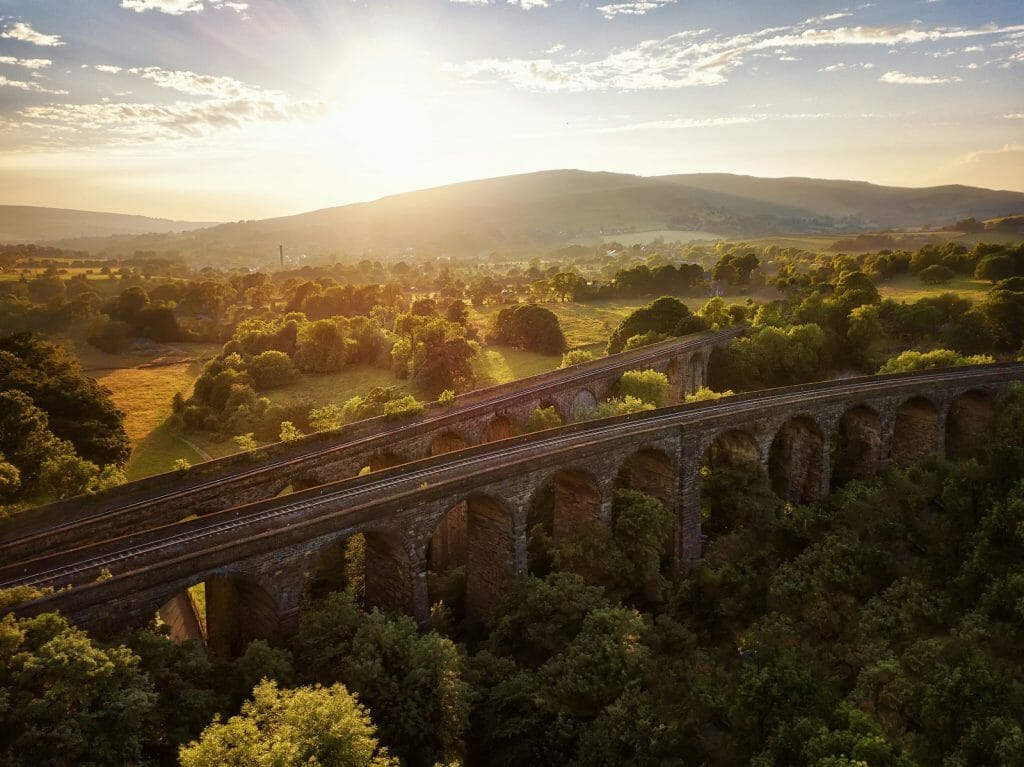 Double Railway Bridge in Peak District, United Kingdom, taken in 2018