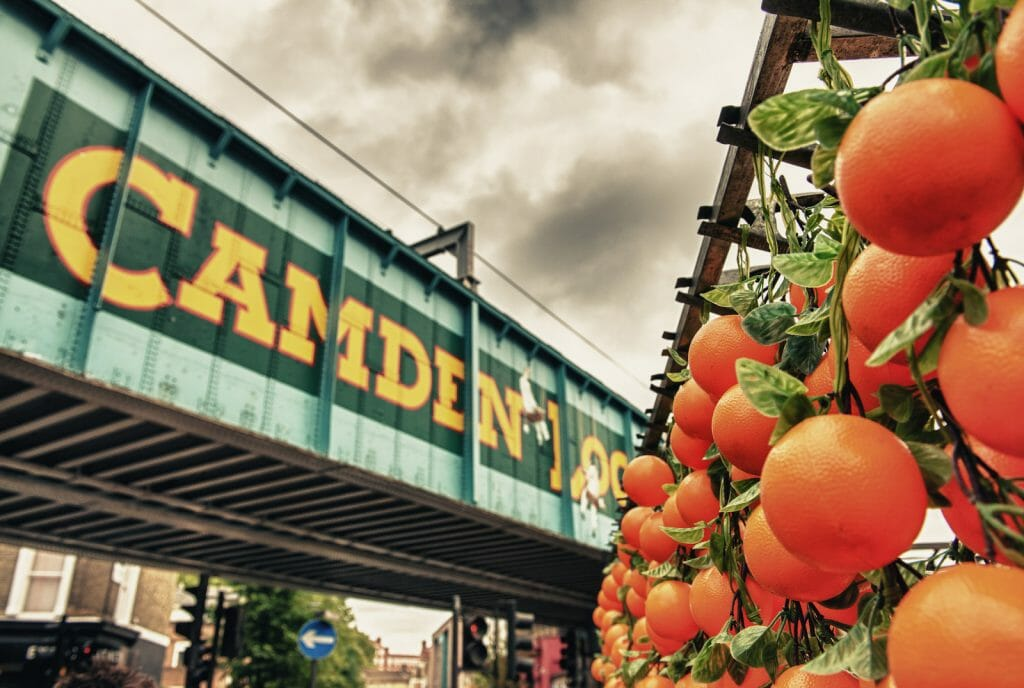 Famous Camden Market in London - UK