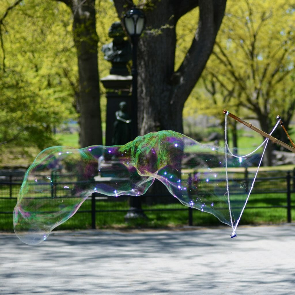 Giant Bubble in Park