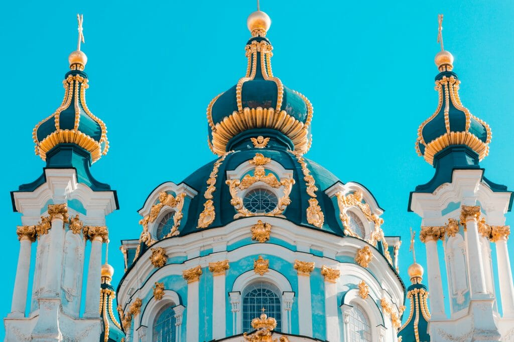 Saint Andrew's Church - old historic landmark in Kiev, Ukraine