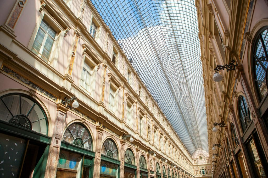 Glass covered shopping center in Brussels - Galeries Royales Saint-Hubert