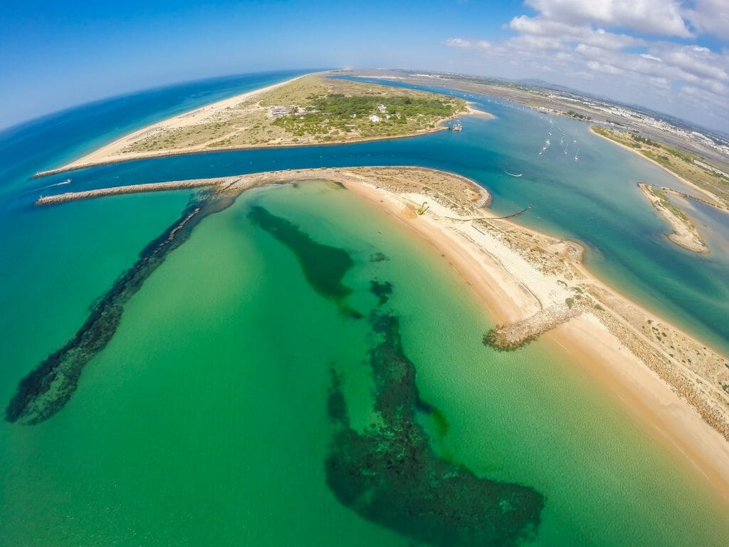 Aerial view of Tavira and Cabanas Islands