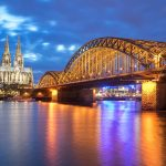 Things To Do in Cologne - View of Cologne Cathedral, Rhein and Hohenzollern Brücke Cologne, Germany.