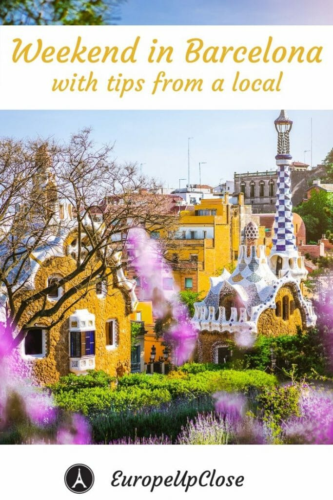 Planning a trip to Barcelona Spain? Here is the perfect Weekend in Barcelona 3 Day itinerary with the best tips from a Barcelona local. Get travel & sightseeing tips plus food guide for Barcelona Itinerary 3 days Barcelona Trip Weekend in Barcelona - 3 Days in Barcelona - Barcelona in 3 days - Barcelona Things to do - Barcelona Spain - Barcelona Travel Guide - Barcelona Travel Tips #visitspain #visitBarcelona #barcelonaitinerary #barcelonatravel #barcelonaweekend #spainitinerary #weekendgetaway