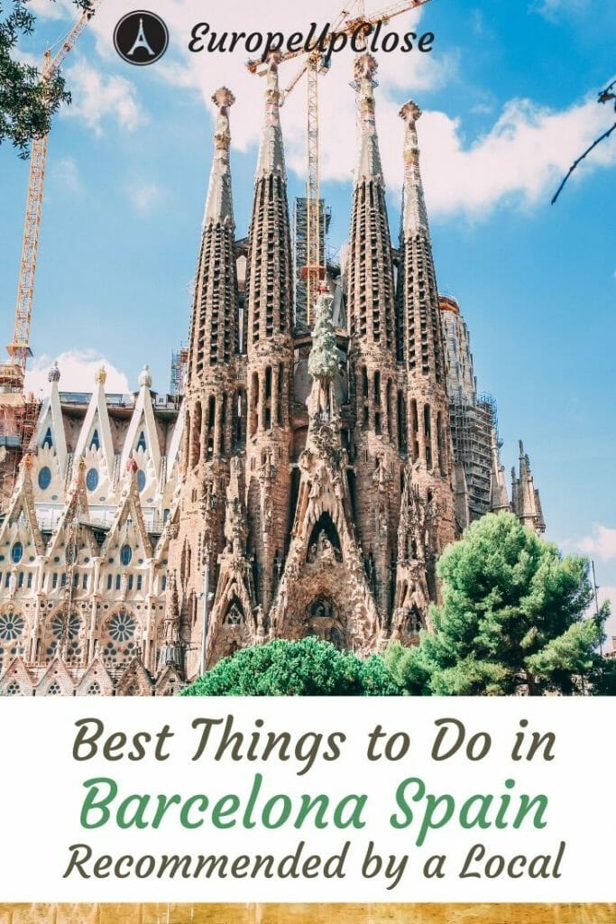 Planning a trip to Barcelona Spain? Here are the best things to do in Barcelona that you should definitely not miss - recommended by a local! #Barcelona - Barcelona Itinerary - Barcelona Things to do - Barcelona Sights - What to see in Barcelona - Places to visit in Barcelona - Barcelona Travel Tips #BarcelonaThingsToDoIn #BarcelonaSpain #BarcelonaTravel #ThingstodoinBarcelona