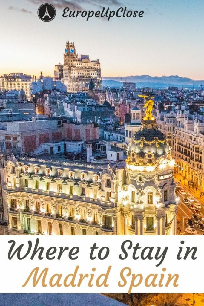Not sure where to stay in Madrid? Here is a guide to the best neighborhoods in Madrid, including recommendations for the best hotels in Madrid, Spain. Madrid Hotels - Where to Stay in Madrid - Madrid Spain - Madrid itinerary - Best Neighborhoods in Madrid #Madrid #MadridSpain #Spain #Spanish #Hotels #Luxury #Luxuryhotels #budgethotels #MadridHotels