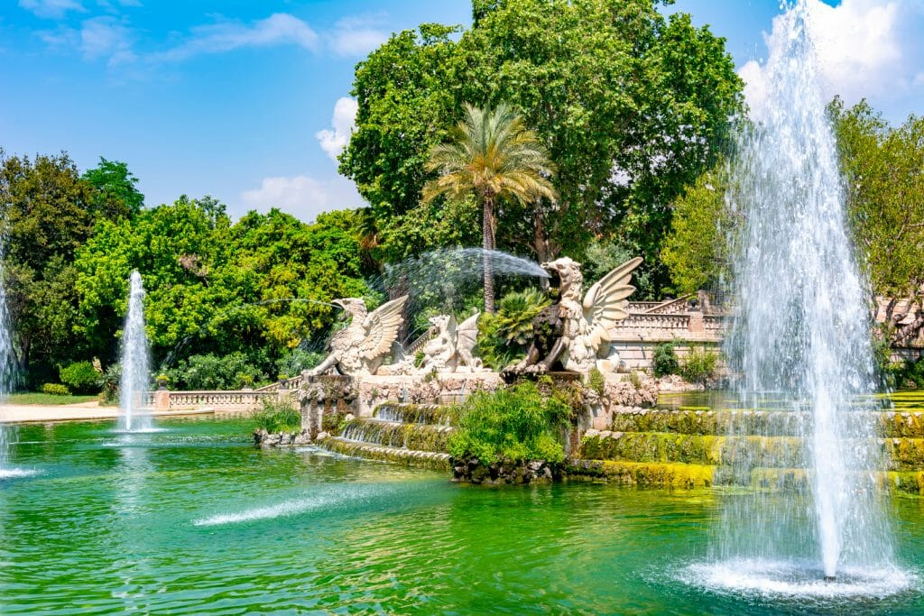Cascade fountain in Ciutadella park, Barcelona, Spain