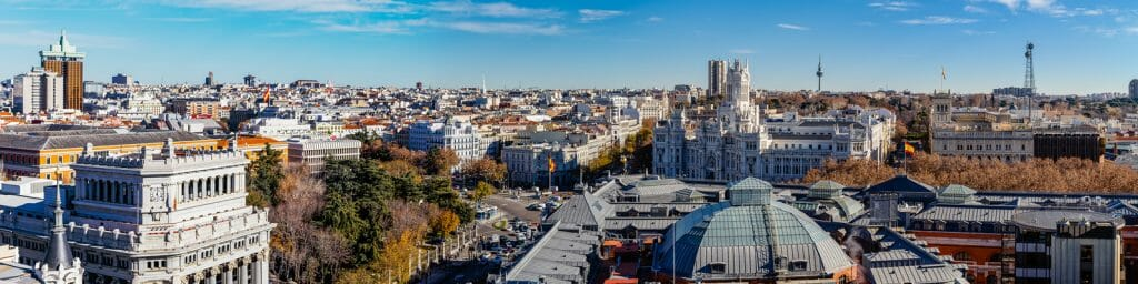 Panoramic View over Madrid Spain - Where To Stay in Madrid Spain - Best Neighborhoods in Madrid for Tourists