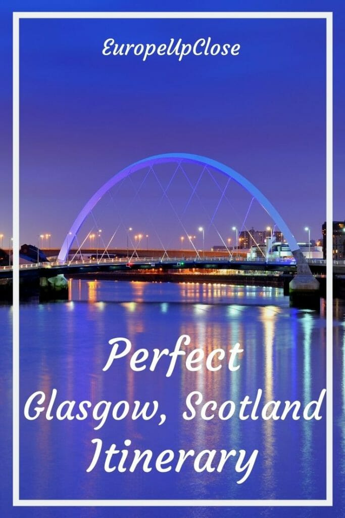 Planning a trip to Glasgow, Scotland? Check out this perfect Glasgow itinerary and best things to do in Glasgow list that will help you make the most of your time in Glasgow. In this list you will find all the top attractions, sighs, restaurants, bars, parks and hidden gems in Glasgow that you should not miss. Whether you want to spend 1 day in Glasgow, a weekend or more, this list of Glasgow things to do will help you make the most of your time in this fun Scottish city.