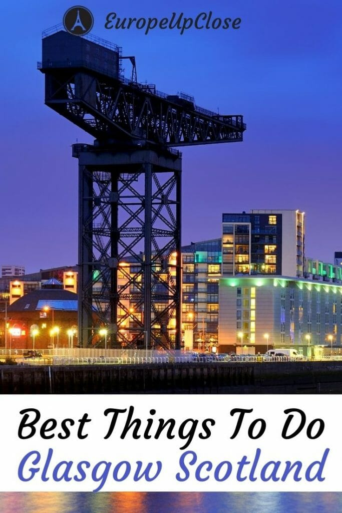 Glasgow itinerary and best things to do in Glasgow Scotland. This Glasgow guide will help you plan your perfect Glasgow trip. Here is a list of all the top attractions, sighs, restaurants, bars, parks and hidden gems in Glasgow that you should not miss. Whether you want to spend 1 day in Glasgow, a weekend or more, this list of Glasgow things to do will help you make the most of your time in this fun Scottish city.