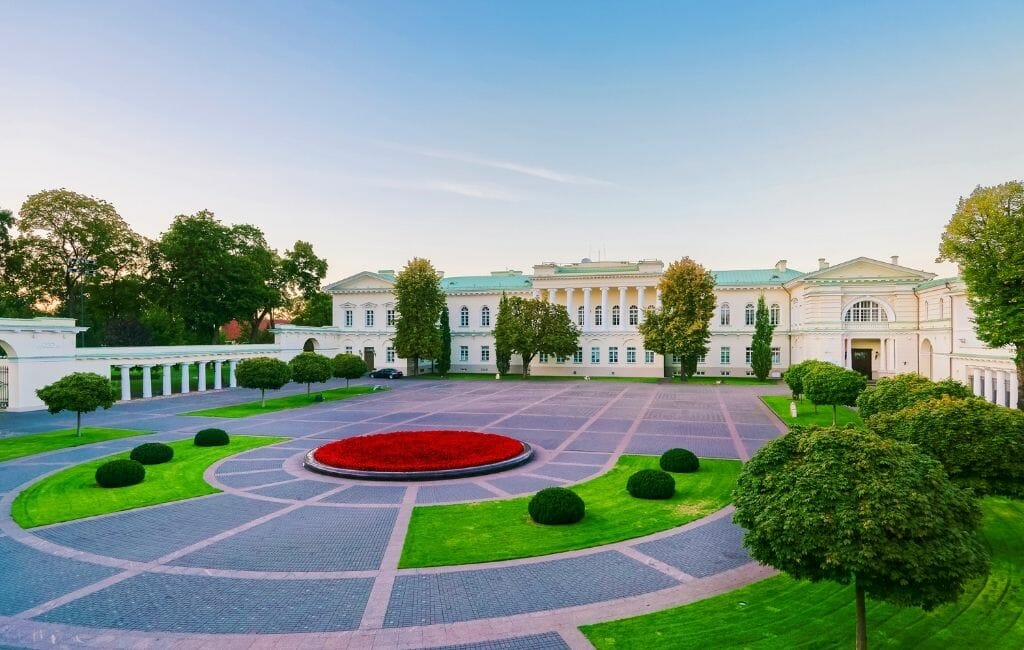 Geometric Gardens at the Presidential Palace in Vilnius