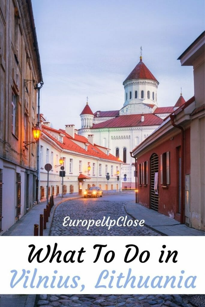 What to do in Vilnius, Lithuania? Plan your trip to Vilnius with this helpful 2-day itinerary to explore the city and surrounding areas. Add this city to your Baltics itinerary - Baltic States - Baltic Road trip - Vilnius itinerary - Things to do in Vilnius - Lithuania itinerary - Baltics itinerary - Vilnius things to do - Vilnius sightseeing