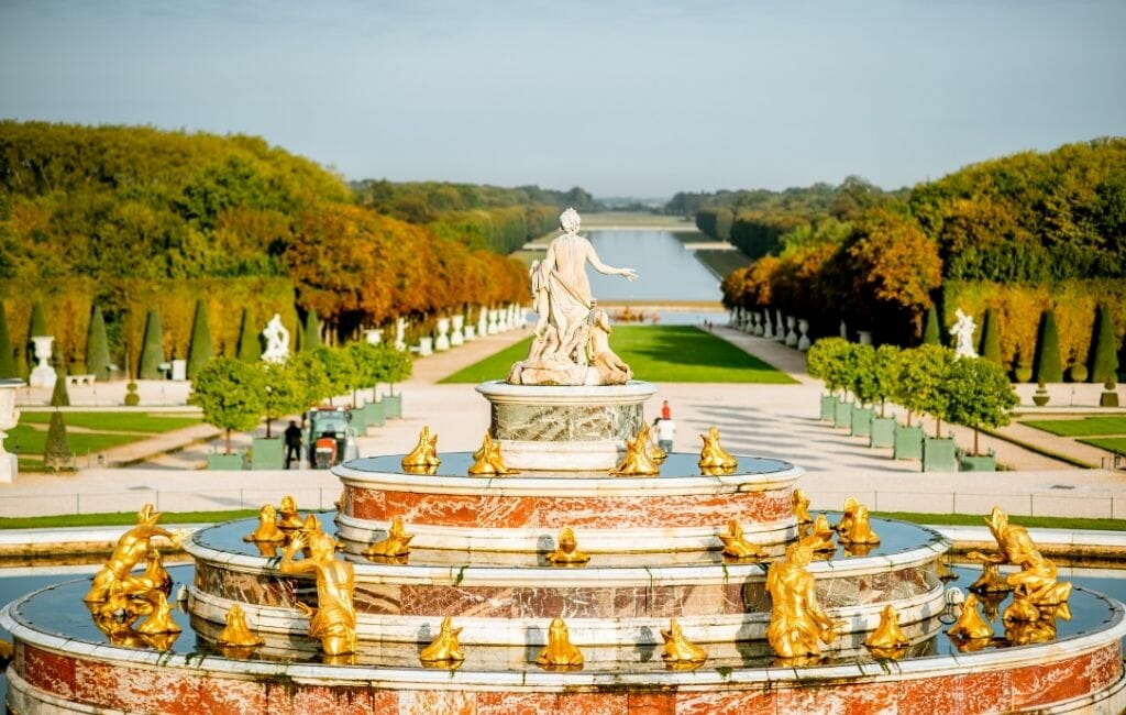 Stunning fountain and gardens at Versailles Paris