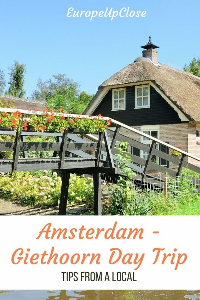 Amsterdam to Giethoorn is the perfect day trip if you are looking to experience a quaint, picturesque Dutch village. Click to read top tips from a local! Amsterdam Day Trips - Giethoorn Day trips - Dutch villages - most picturesque dutch village - giethoorn tours - Things to do in amsterdam - Day trips from Amsterdam - Dutch countryside - visit amsterdam - what to do in amsterdam - amsterdam to giethoorn day trips - giethoorn tours from Amsterdam